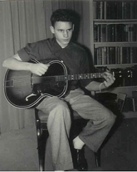 Bill with tenor guitar age 15