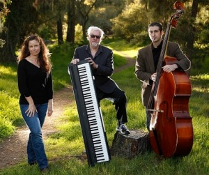 Pianist and author Bill Minor, center, with vocalist Jaqui Hope and bassist Heath Proskin in Pacific Grove, Calif.