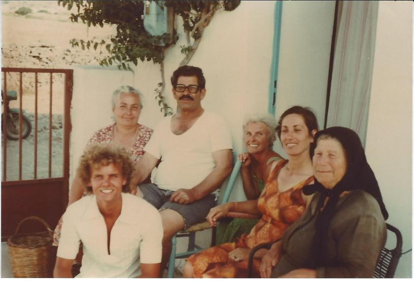 Greece Steve and Betty with family on Paros