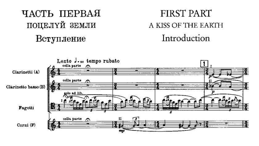 score for Rite of Spring