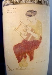 Woman playing Kithara