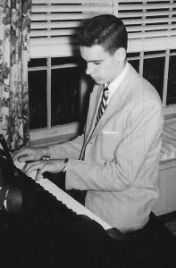Bill age 14 at piano