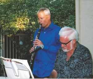 Bill and Tim Playing Music
