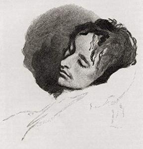 john keats sketch sleeping by joseph severen