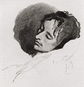 john keats sketch sleeping by joseph severen