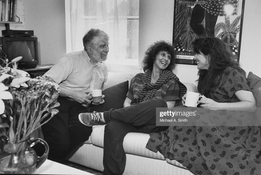 Leonard Wolf Chatting with Naomi and Wife