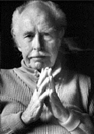 Wright Morris hands folded photo