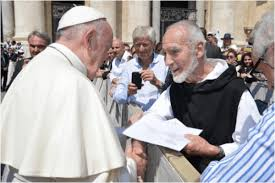 Brother David Steindl Rast with Pope FRancis