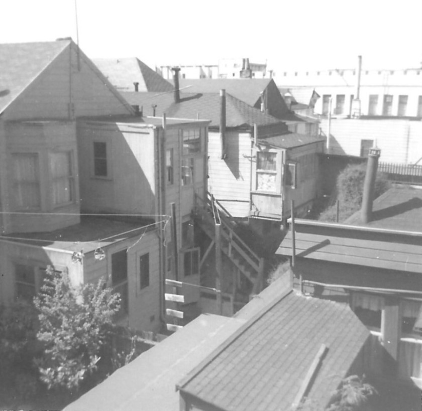 This image has an empty alt attribute; its file name is san-francisco-1966-back-yard-entrance.jpg